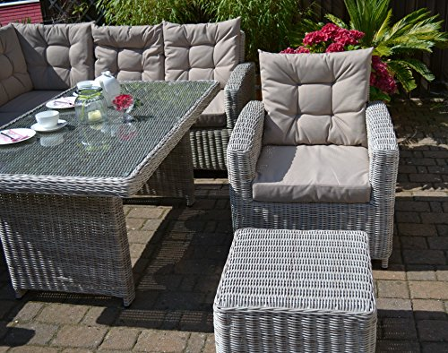 ecklounge manhattan ecksofa links tisch sessel hocker gro es rattan gartensofa lounge. Black Bedroom Furniture Sets. Home Design Ideas