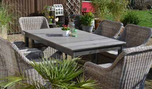 Beautiful Awesome Gartenmbel Set Como Tisch Ausziehbar Holzdekor Mit With Gartenmbel  Set Polyrattan With Gartenmbel Sets Great Ideas