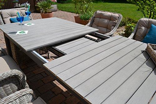 Gartenm bel set como xl 8 tisch ausziehbar 205 260 for Gartenmobel set 8 personen