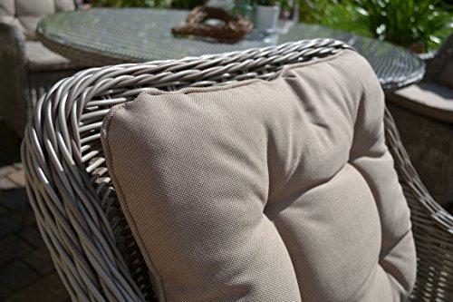 Gartenmobel Tisch Hohenverstellbar : GartenmbelSetComoXL8Tischausziehbar205260Holzdekormit8Sessel