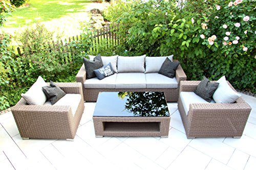 hochwertiges outdoor lounge garten m bel set loungeset loungem bel gartengarnitur chilli. Black Bedroom Furniture Sets. Home Design Ideas