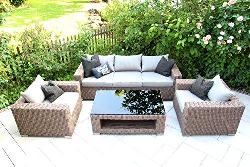 hochwertiges outdoor lounge garten m bel set loungeset loungem bel gartengarnitur chilli. Black Bedroom Furniture Sets. Home Design Ideas