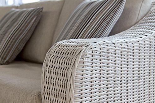 haberkorn premium sitzgruppe simeto lounge rattan gartengarnitur grau wei online kaufen bei woonio. Black Bedroom Furniture Sets. Home Design Ideas