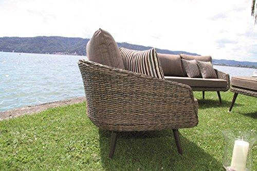 hochwertige luxus poly rattan lounge glamour mit gedrehtem kunststoffgeflecht in bananenblatt. Black Bedroom Furniture Sets. Home Design Ideas