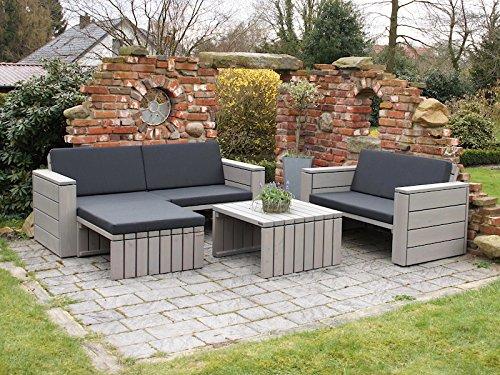 loungem bel set 7 holz inkl polster lieferung komplett montiert online kaufen bei woonio. Black Bedroom Furniture Sets. Home Design Ideas