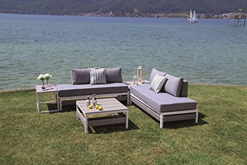 luxus poly rattan lounge woodrock inkl wasserabweisender kissen von forma outdoor living. Black Bedroom Furniture Sets. Home Design Ideas