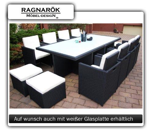 polyrattan essgruppe deutsche marke eignene produktion tisch 8x stuhl 4x hocker 7 jahre. Black Bedroom Furniture Sets. Home Design Ideas