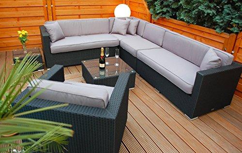 polyrattan lounge deutsche marke eignene produktion 7 jahre garantie garten m bel incl. Black Bedroom Furniture Sets. Home Design Ideas
