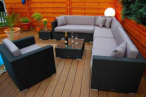 polyrattan lounge deutsche marke eignene produktion 7 jahre garantie garten m bel incl. Black Bedroom Furniture Sets. Home Design Ideas