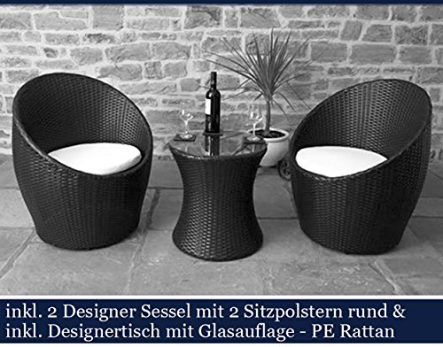 polyrattan gartenm bel set poly rattan garten m bel gartengarnitur sitzgruppe schwarz online. Black Bedroom Furniture Sets. Home Design Ideas