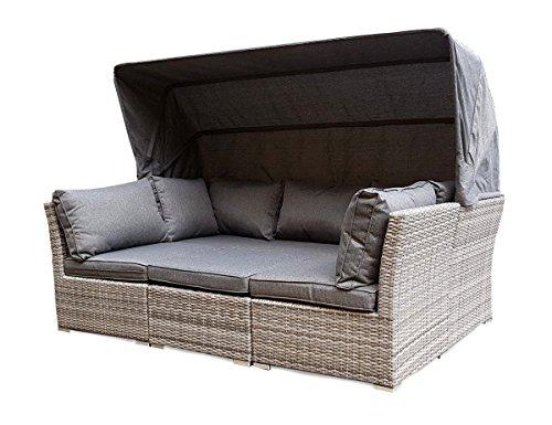 Gartenmobel Outlet Bornheim : Strandkorb Lounge Palma Cabrio Sofa Alu Geflecht 5tlg grey online