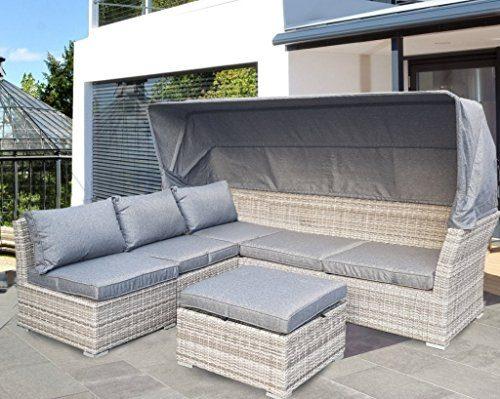 strandkorb lounge palma cabrio sofa alu geflecht 5tlg grey online kaufen bei woonio. Black Bedroom Furniture Sets. Home Design Ideas