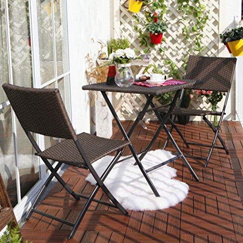 terrasse balkonm bel faltbare bistro m bel sets holz harz. Black Bedroom Furniture Sets. Home Design Ideas