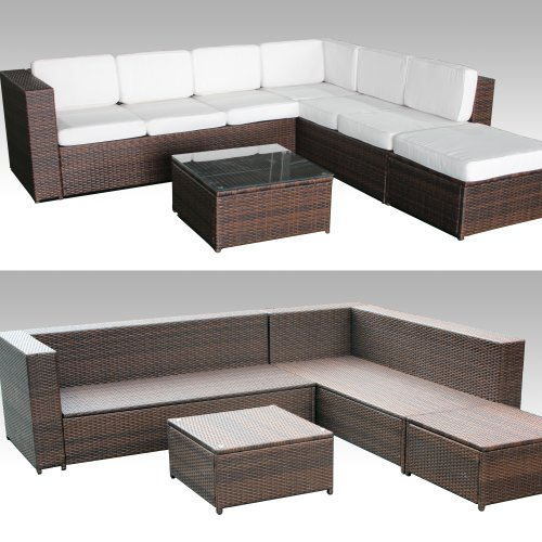 xinro 19tlg xxxl polyrattan gartenm bel lounge sofa. Black Bedroom Furniture Sets. Home Design Ideas