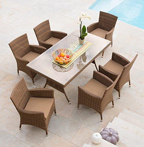 baumarkt direkt 13tlg gartenm bel diningset marokko hellbraun online kaufen bei woonio. Black Bedroom Furniture Sets. Home Design Ideas