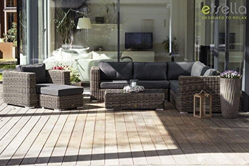essella polyrattan eck garnitur alabama in naturoptik online kaufen bei woonio. Black Bedroom Furniture Sets. Home Design Ideas