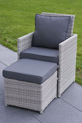 essella polyrattan essgruppe vienna 8er in vintage weiss geflecht halbrund online kaufen bei woonio. Black Bedroom Furniture Sets. Home Design Ideas