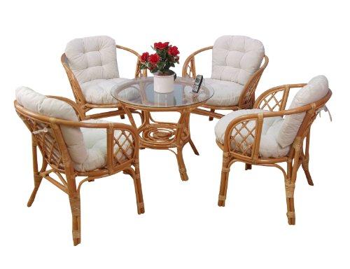 moebel direkt online rattansitzgruppe 9teilig 4 sessel. Black Bedroom Furniture Sets. Home Design Ideas