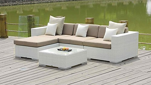 talfa rattan gartenm bel set mesa wei online kaufen bei woonio. Black Bedroom Furniture Sets. Home Design Ideas