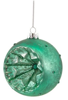 4 green glitter glass ball retro reflector christmas ornament online kaufen bei woonio. Black Bedroom Furniture Sets. Home Design Ideas