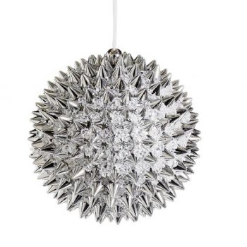 4-Silver-Beaded-Spiky-Christmas-Ball-Ornament-100mm-0