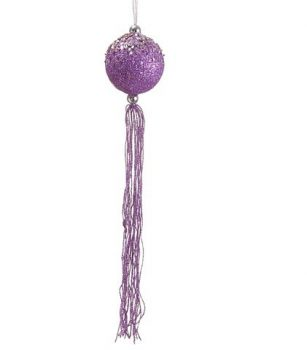 Allstate-Regal-Peacock-Purple-Glitter-Christmas-Ball-Ornament-with-Tassels-and-Beads-12-0