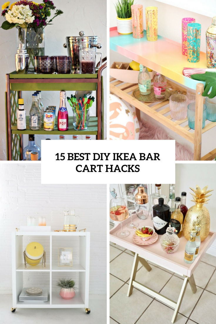 15 best diy ikea bar cart hacks wohnidee by woonio. Black Bedroom Furniture Sets. Home Design Ideas