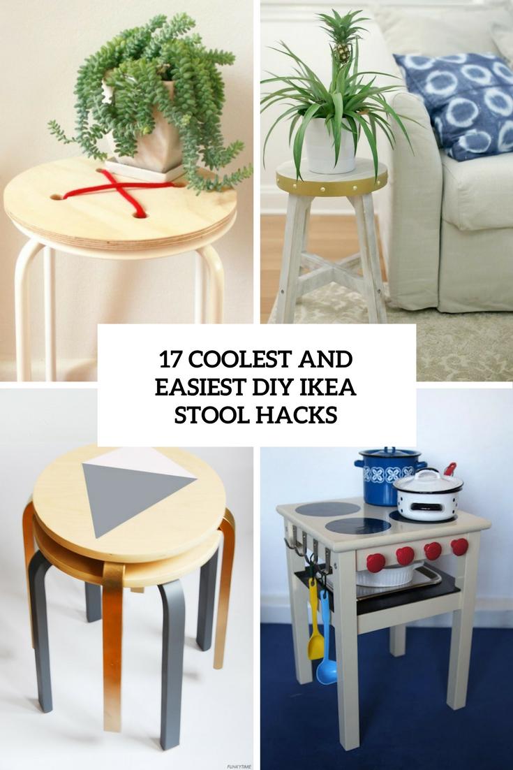 17 coolest and easiest diy ikea stool hacks wohnidee by. Black Bedroom Furniture Sets. Home Design Ideas