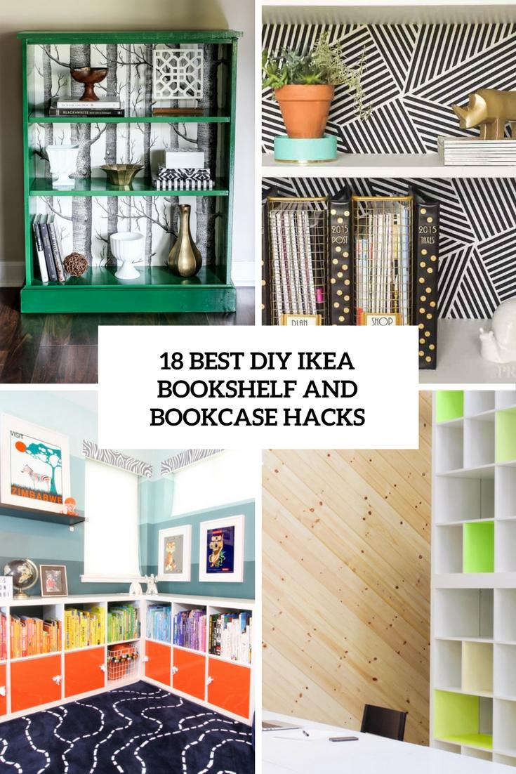 18 Best DIY IKEA Bookshelf And Bookcase Hacks - Wohnidee by WOONIO