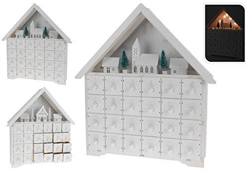 adventskalender weihnachtskalender energiesparende led technik zum selbst bef llen 42x39x9cm. Black Bedroom Furniture Sets. Home Design Ideas