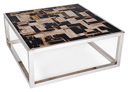 Amaris-Elements-Couchtisch-Jackson-versteinertes-Holz-massive-Tischplatte-schwarzbeigebraun-100x100xH41cm-0