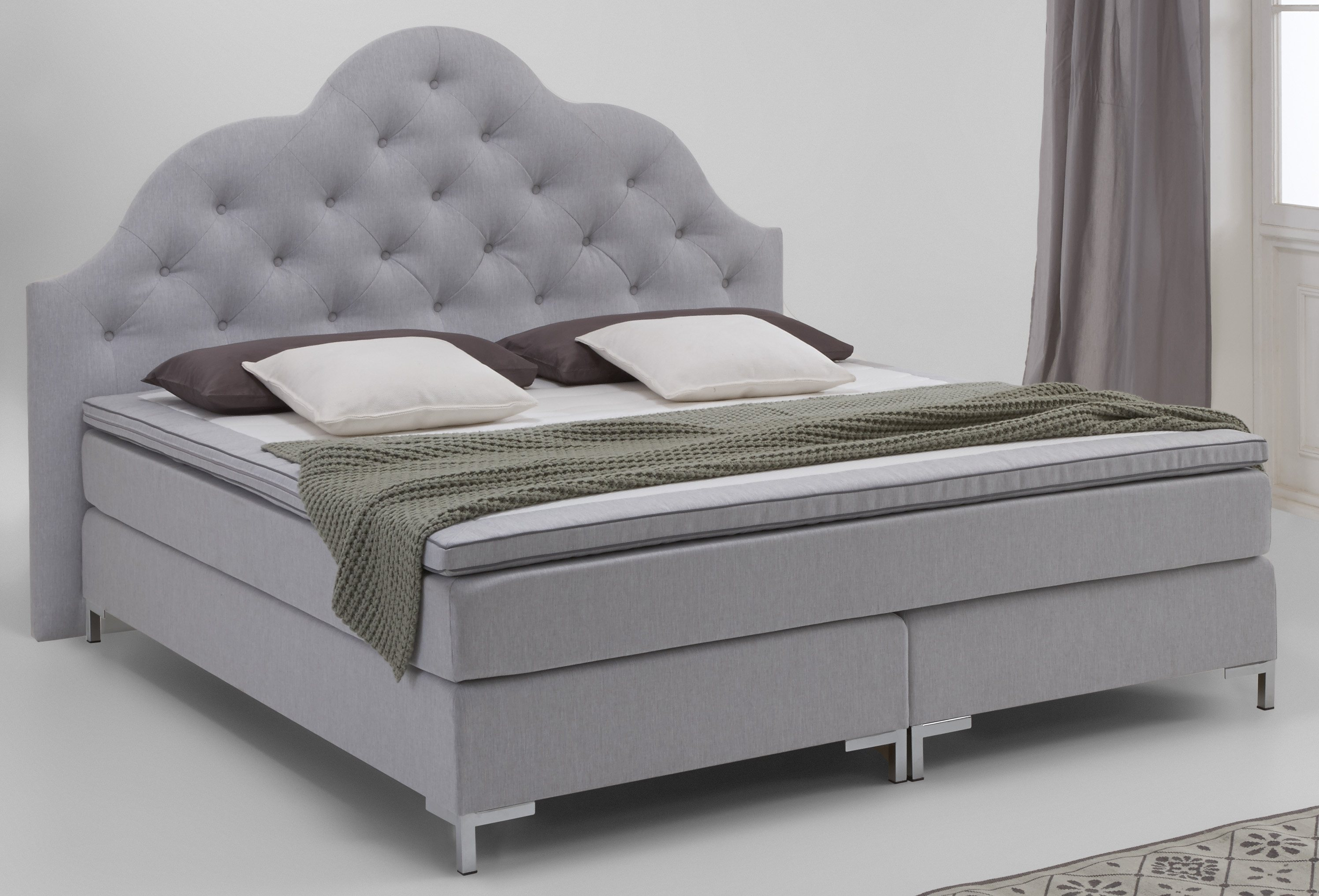 boxspringbett atlantic home collection grau online kaufen bei woonio. Black Bedroom Furniture Sets. Home Design Ideas