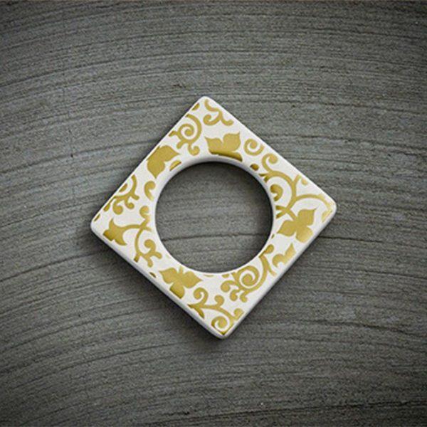 CULTDESIGN Cult Design Manschette für Teelichthalter Blumenwechsel gold weiß