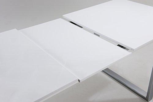 Cavadore-Ausziehbarer-Kufentisch-Vienna-Tisch-mit-in-Hochglanz-Wei-lackierter-Tischplatte-und-verchromten-Metallfen-160205-x-90-x-76-cm-L-x-B-x-H-0