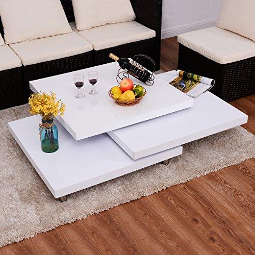 Costway couchtisch wohnzimmertisch salontisch sofatisch for Couchtisch drehbar