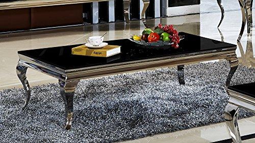 Couchtisch 130 X 70 X 42 Aura Schwarz Wohnzimmer Designer Luxus
