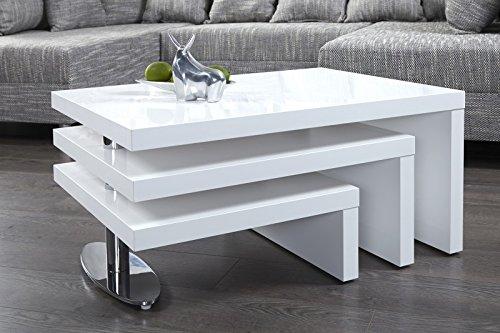 Dunord design couchtisch sofatisch highlevel weiss for Design lounge tisch