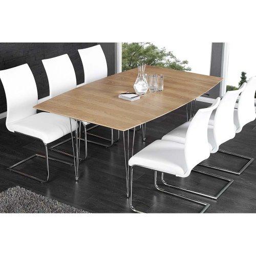 esstisch kontinent ii echtholz eichefurnier ausziehbar 170 270cm online kaufen bei woonio. Black Bedroom Furniture Sets. Home Design Ideas