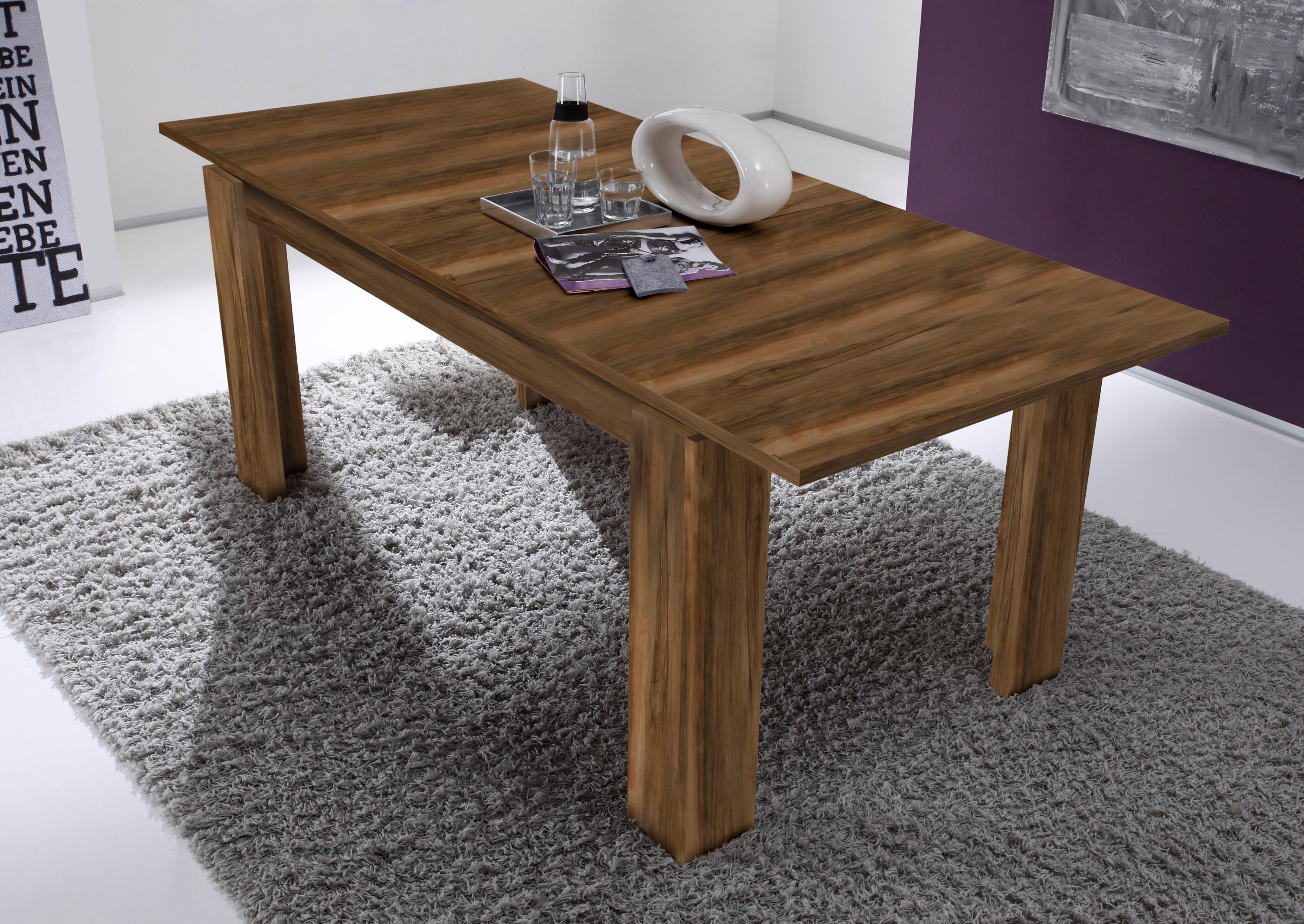 esstisch l nge 160 200cm braun online kaufen bei woonio. Black Bedroom Furniture Sets. Home Design Ideas