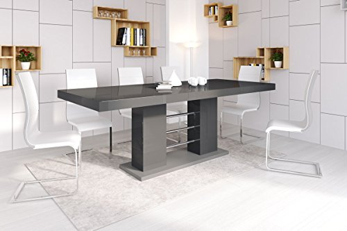 esstisch linosa 2 tisch ausziehbar in super hochglanz acryl online kaufen bei woonio. Black Bedroom Furniture Sets. Home Design Ideas