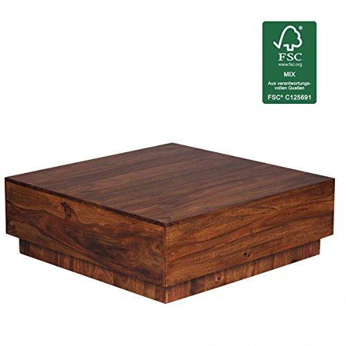 FineBuy Couchtisch Massiv-Holz Sheesham 90 Cm Breit