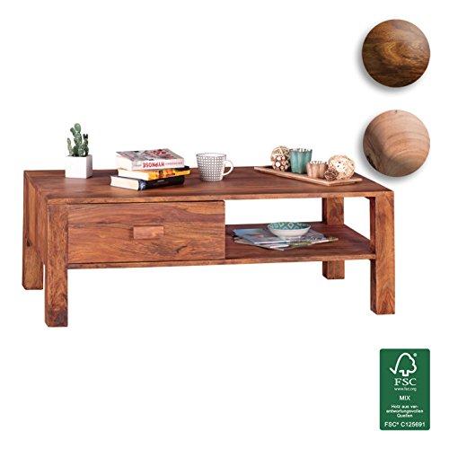 Finebuy Couchtisch Massivholz Sheesham Design Wohnzimmer Tisch 110 X