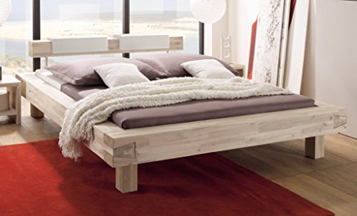 HASENA-Bett-Pescara-Akazie-gebrstet-lackiert-25cm-Fe-180x200-0
