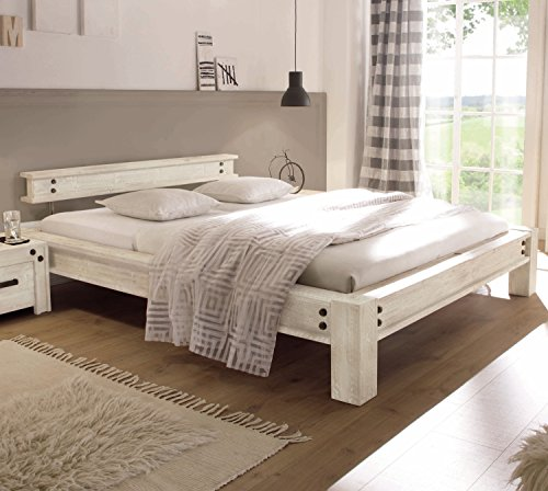 hasena bettgestell san luca akazie vintage white 180x200. Black Bedroom Furniture Sets. Home Design Ideas