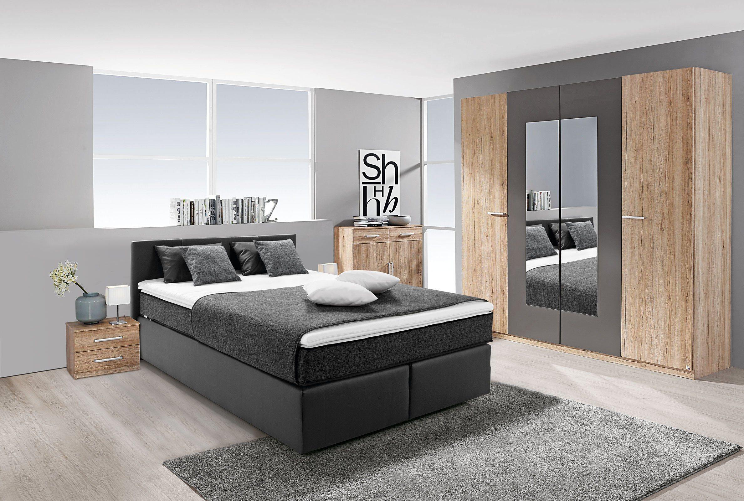 hti living boxspringbett peach online kaufen bei woonio. Black Bedroom Furniture Sets. Home Design Ideas