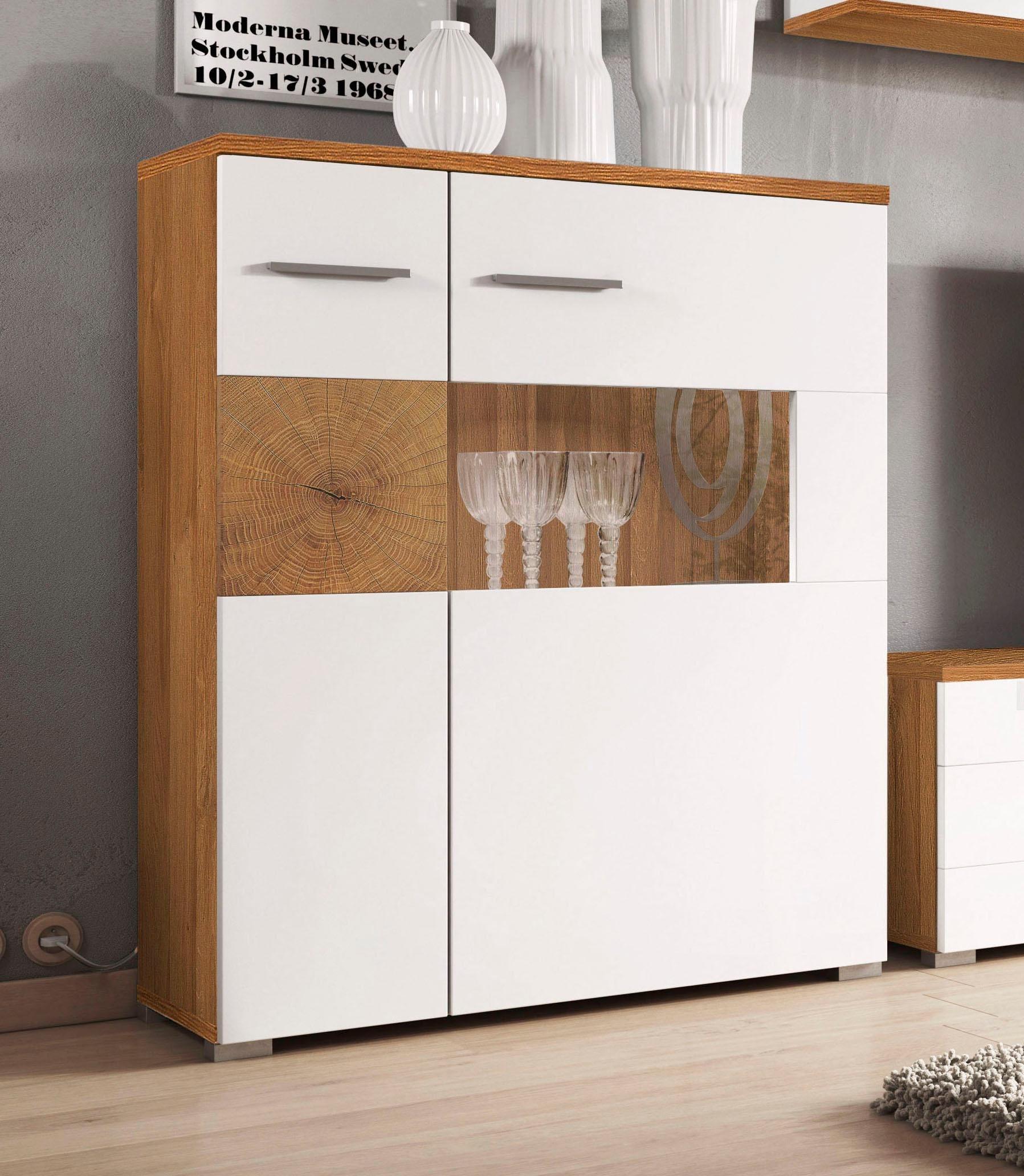 highboard wobona breite 80 cm wei online kaufen bei woonio. Black Bedroom Furniture Sets. Home Design Ideas