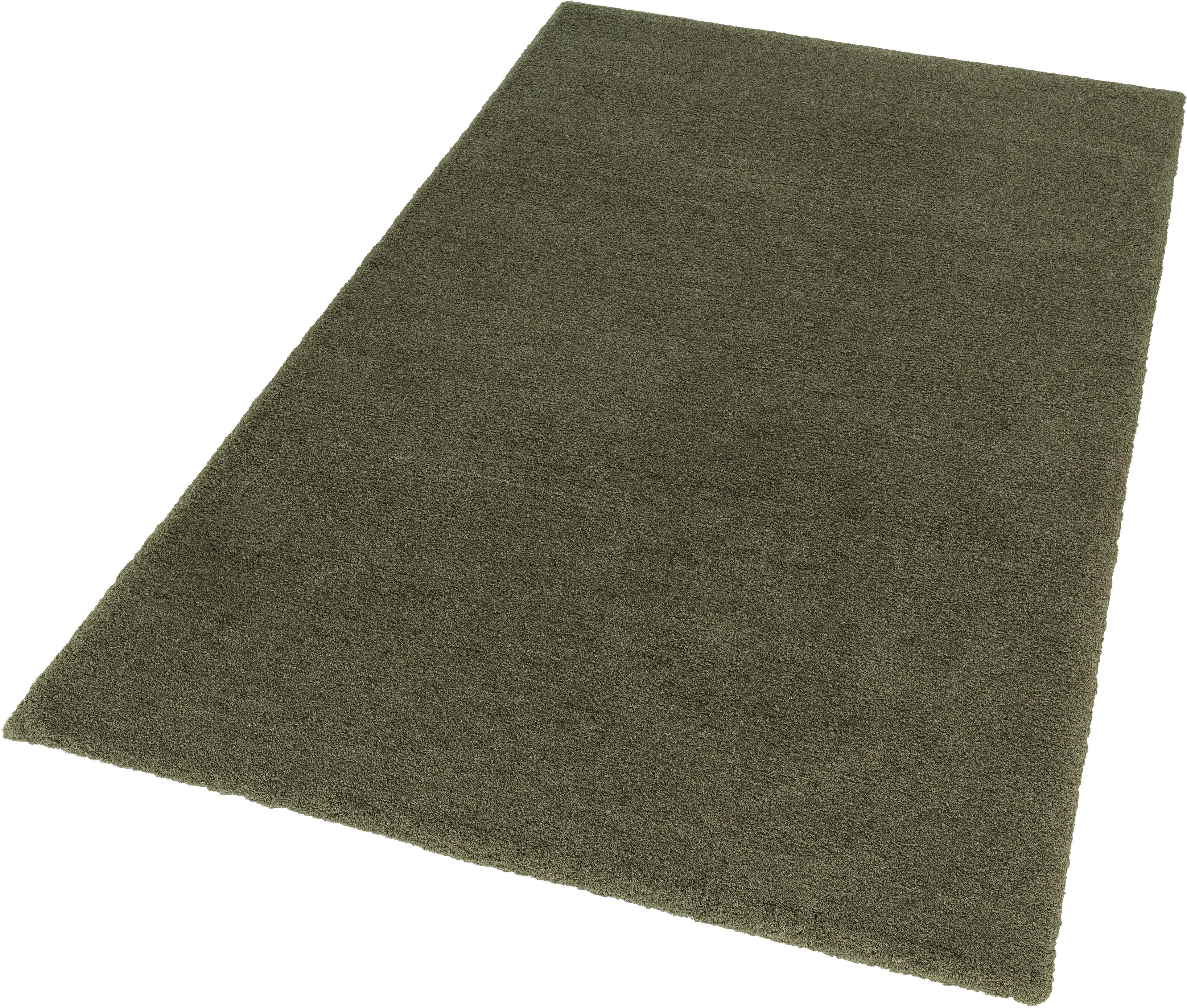 hochflor teppich livorno deluxe astra rechteckig h he 37 mm gr n online kaufen bei woonio. Black Bedroom Furniture Sets. Home Design Ideas