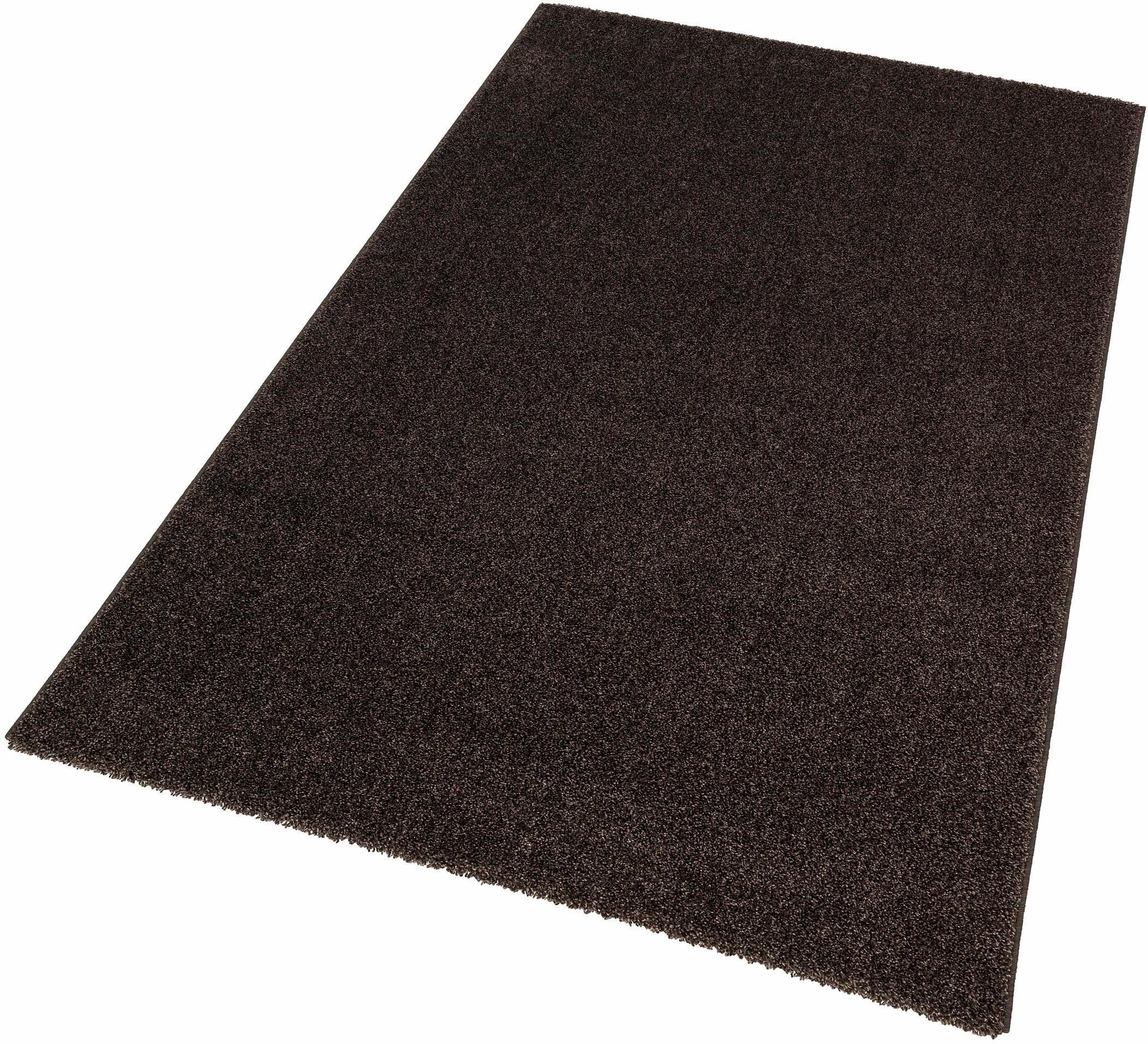 hochflor teppich riva astra rechteckig h he 25 mm grau online kaufen bei woonio. Black Bedroom Furniture Sets. Home Design Ideas