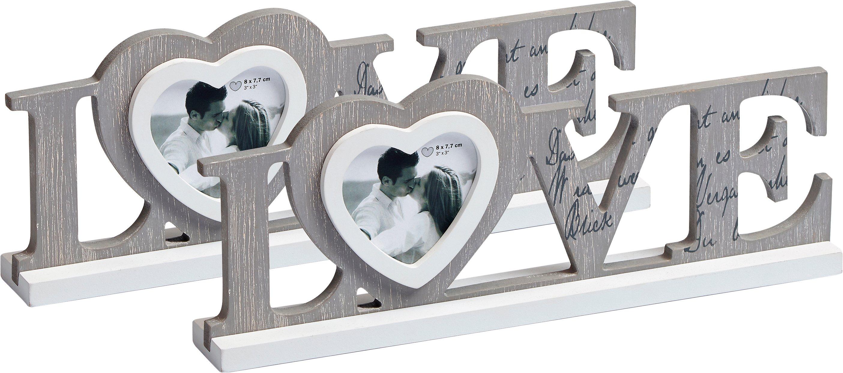 home affaire bilderrahmen love grau online kaufen bei woonio. Black Bedroom Furniture Sets. Home Design Ideas