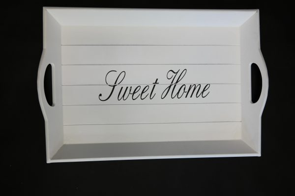 Home affaire Tablett »Sweet Home« weiß